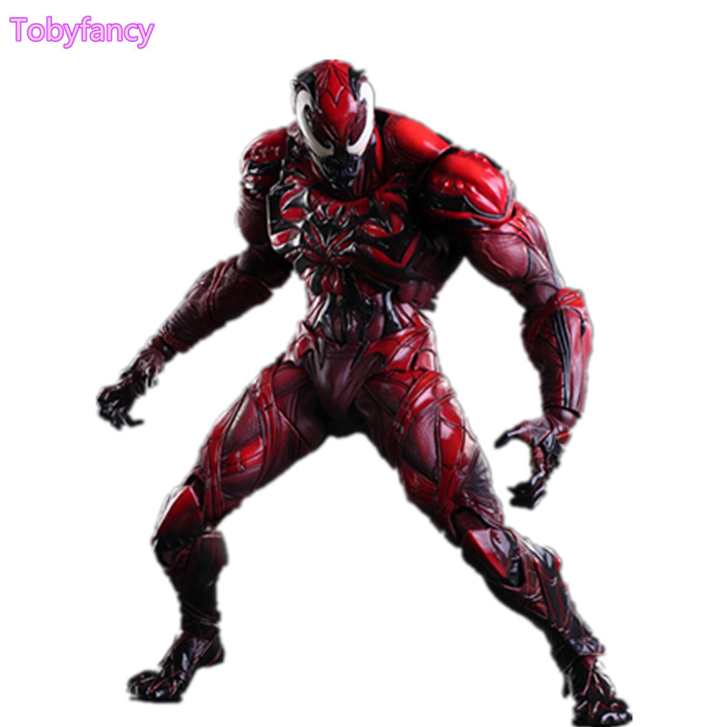 Anime Amazing Spiderman Play Arts Kai Action Figure Venom Spiderman PVC Toy 25cm Collection Model Venom Playarts Kai Superhero the amazing spider man venom cletus kasady carnage pvc action figure toy spiderman villain venom collectible model toy gift n038