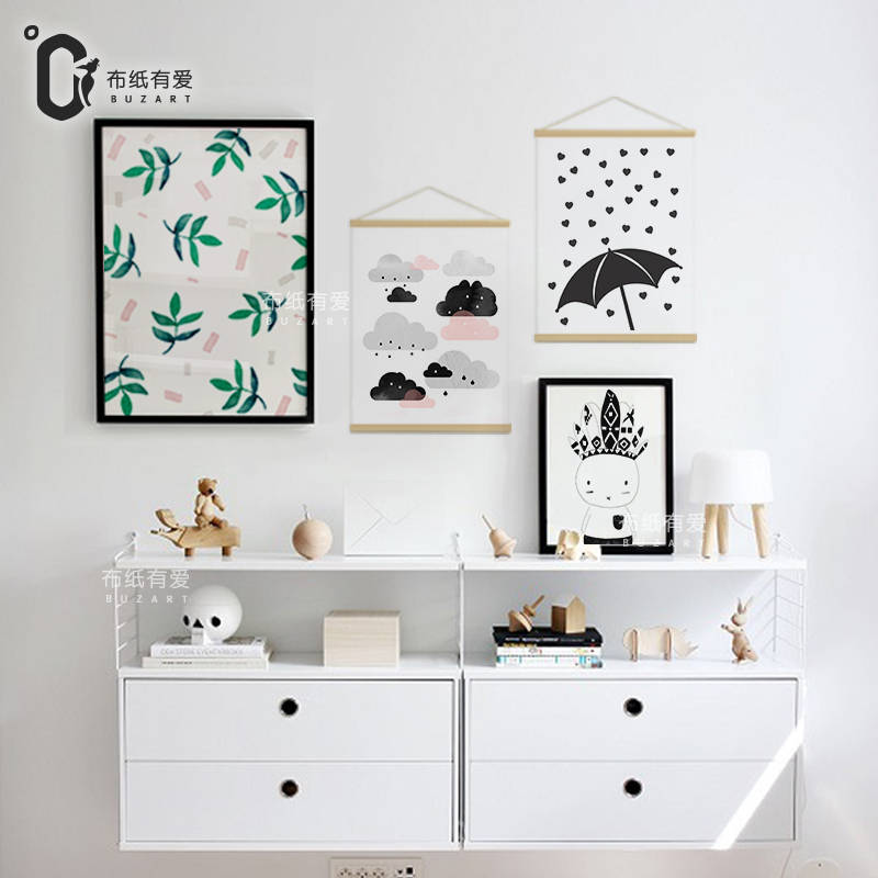 Rain Nursery Art Prints And Posters For Kids Room Canvas Painting Wall Decor Home Decoration No