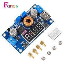 XL4016 Adjustable 5A CC/CV Power Step-down Charge Module LED Driver W/ USB Voltmeter
