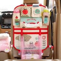 Red Cartoon Car Seat Back Organizer Organizador Multi Pocket Storage Diaper Bags Hanging Pocket For Baby Mama Kids Children