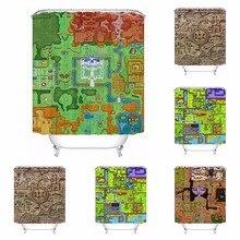 Custom Zelda Map Bathroom Acceptable Shower Curtain Polyester Fabric Bathroom  Curtain #180320 01