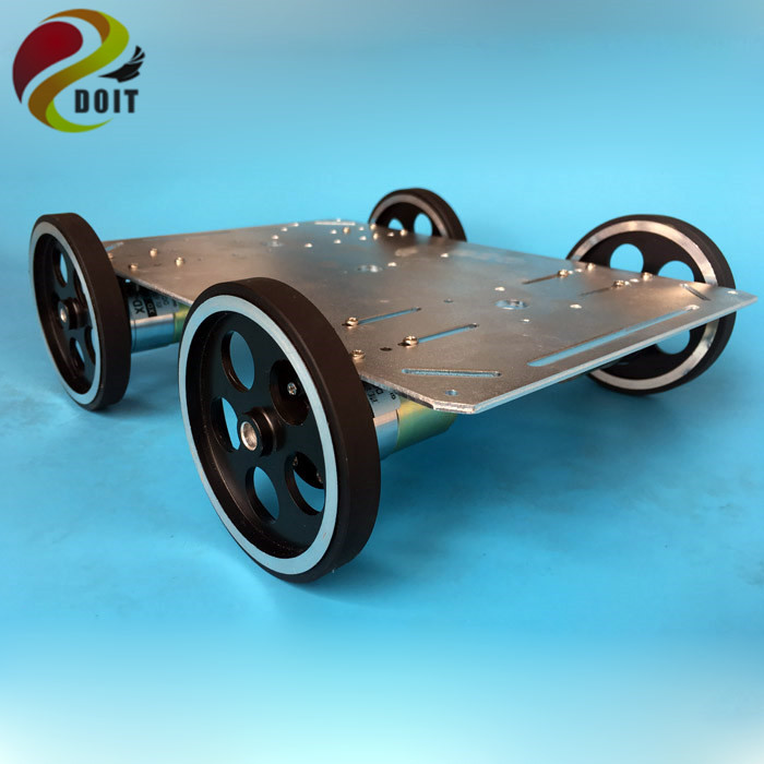 C600 Metal Robot Car Chassis Smart Wheeled Vehicle Large Load With Four Carbon Brush Motor Remote