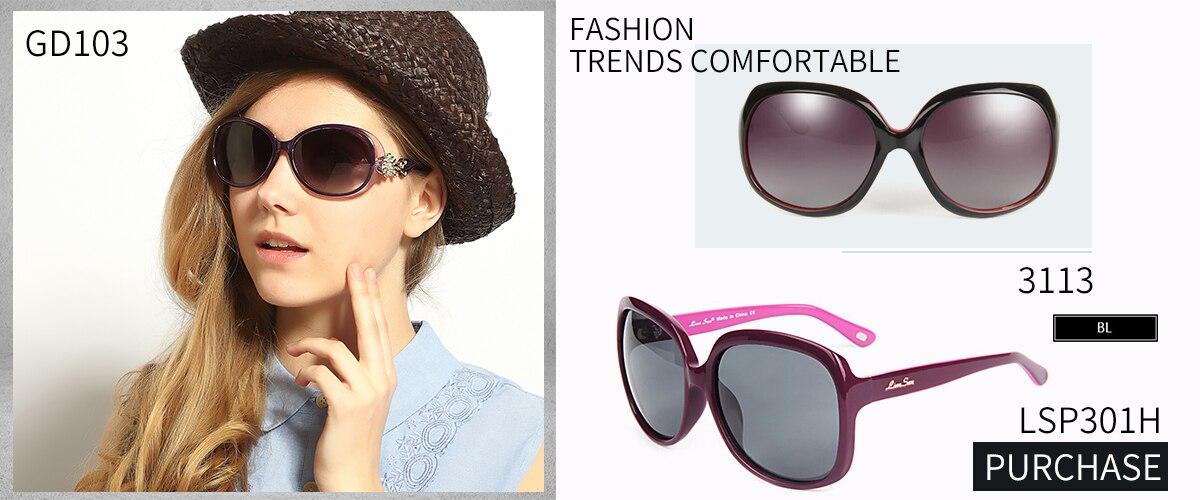 925ca3b42ad0e LianSan Oversized Polarized Female Butterfly Sunglasses Women Luxury Brand  Designer Plastic Frame Driver Fashion Black GD103P