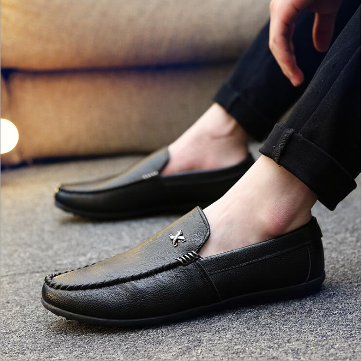 Men Casual   Suede   Loafers Shoes 2018   Leather   Driving Moccasins Gommino Slip on Men Formal Loafers Shoes Male Dress Loafers