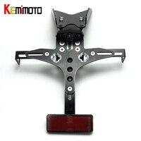 KEMiMOTO For Ducati Monster 821 2012 2014 Motorcycle Accessories License Plate Bracket Fender Eliminator LED Kit
