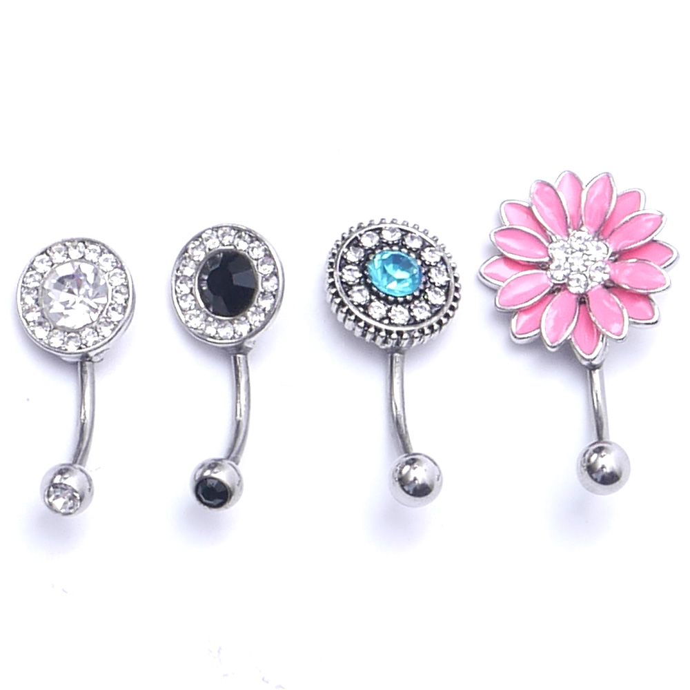 Button-Rings-Belly Barbell Navel Jewelry Piercing Belly-Dance Dangle Surgical-Steel Sexy