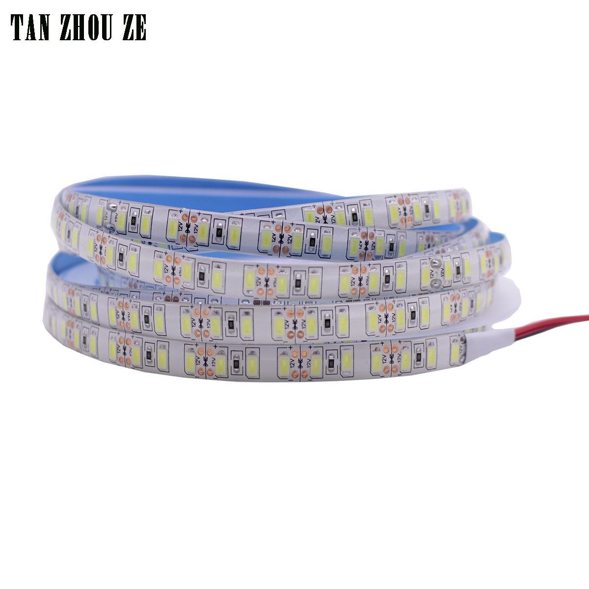 Super bright 5m 5730 LED strip 120 led m IP20 65 67 waterproof 12V flexible 600 LED tape5630 LED ribbon white warm white color
