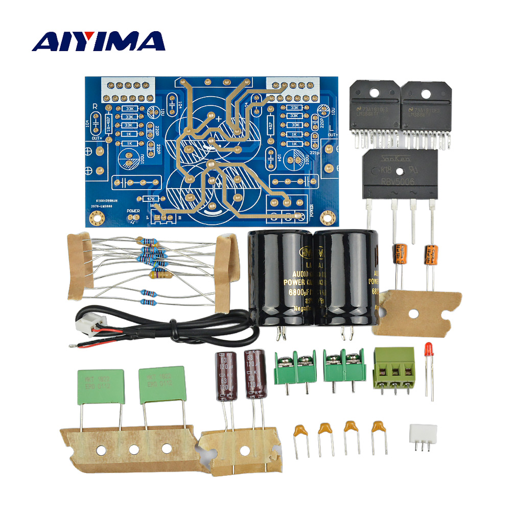 Lm3886 Amplifier Board With Speaker Protection Kit In Integrated Cbb Circuit Breaker Diy Kits Power 68w Spare Parts Amps