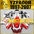 Motoegg ABS Fairings For YAMAHA YZF 600R 1997-2007 Thundercat Red White #M23 Motorcycle ABS plastic