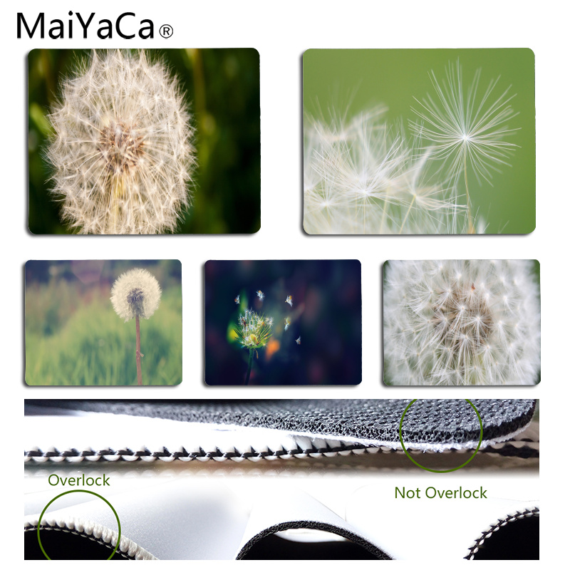 MaiYaCa Boy Gift Pad Dandelion Beautiful Anime Mouse Mat Size For 18x22cm 25x29cm Rubber Rectangle Mousemats