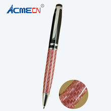 цена на Unique Curve Glass Fibre Ballpoint Pen Classic Black Carbon Fiber Ball Pen Jumbo Parker Style Refill Retractable Pen Stationery