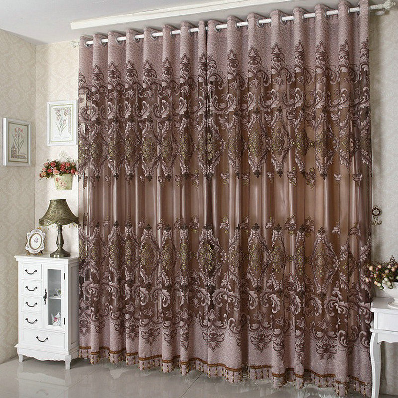2016 New Arrival Ready Ready Made Luxury Curtains For Living Living Room Bedroom Tulle