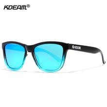 Lightweight Polarized Sunglasses Unisex Sleek Mirrored Shades By KDEAM Hollywood Stars Street Sun Glasses With Hard Fabric Case