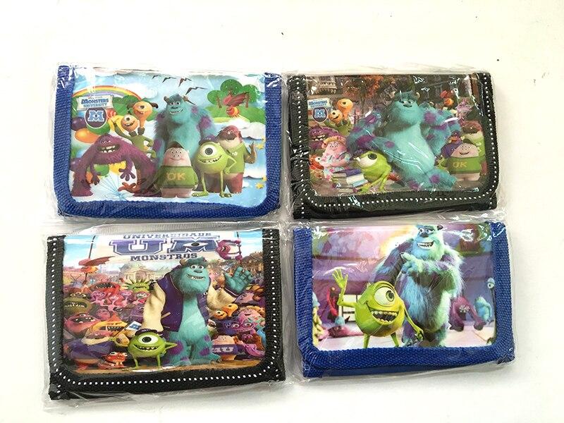 12Pcs Monster University Coin Purse Cute Kids Cartoon Wallet Bag Pouch Children Purse Small Wallet Party Birthday Gift