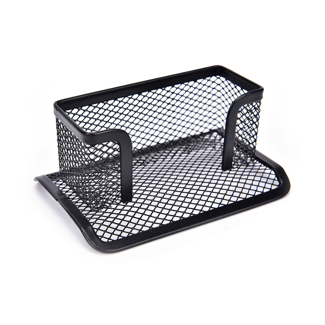Desk Shelf Box Card Holder Case Display Stand Black Mesh Tray Storage Organizer Office