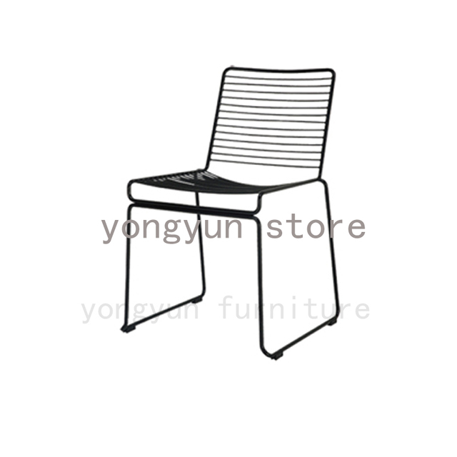 outdoor wire chairs folding warehouse minimalist modern classic metal chair stackable steel cafe popular dining room studio hee