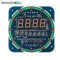 DS1302 Módulo de Display Digital LED de Alarme Eletrônico Relógio Digital LED Temperatura de Exibição Kit DIY SCM Aprendizagem Bordo 5 V Rotativo