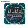 DS1302 Módulo de Pantalla LED Digital de Alarma Electrónica Reloj Digital LED Indicador de Temperatura Kit DIY SMC Aprendizaje Bordo 5 V Giratoria