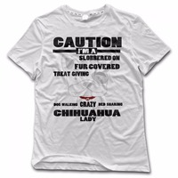 Dog Lover Gifts For Women Crazy Chihuahua Lady Dog Print T Shirt Fitness Men Tee Shirt