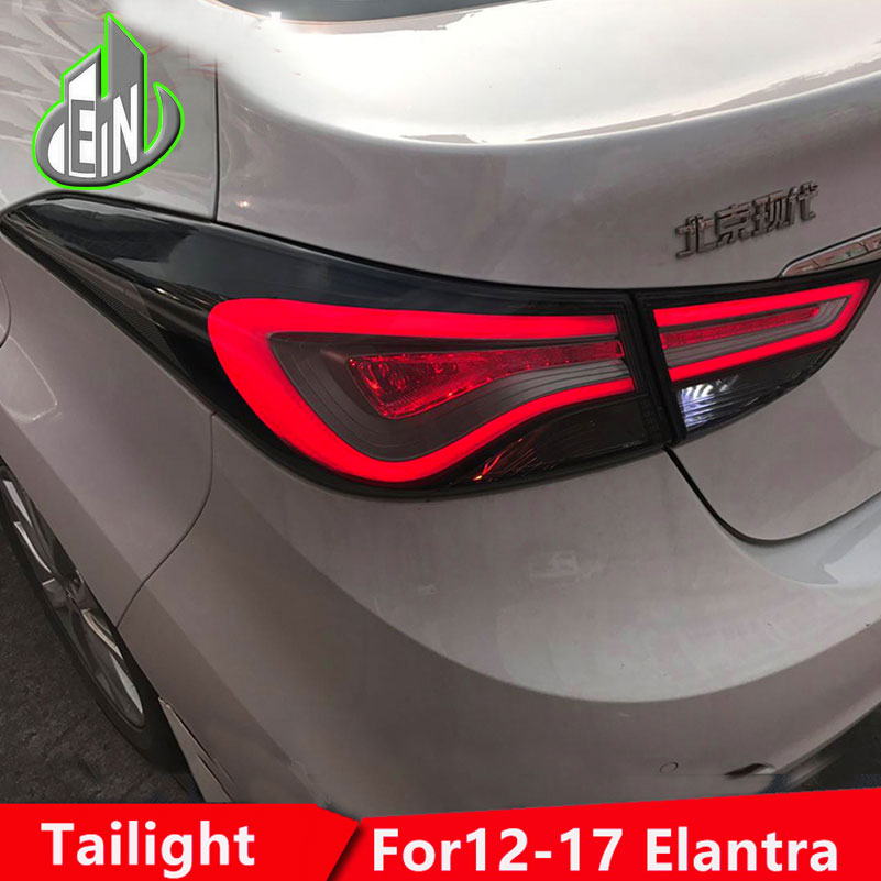 EN Car Styling 2010-2016 For Hyundai Elantra Tail Lights New Tuscon LED Elantra Tail Light Rear Lamp DRL+Brake+Park+Signal free shipping led tail lamps assy bm style light bar rear lamps tail lights fit for hyundai elantra 2012 2015