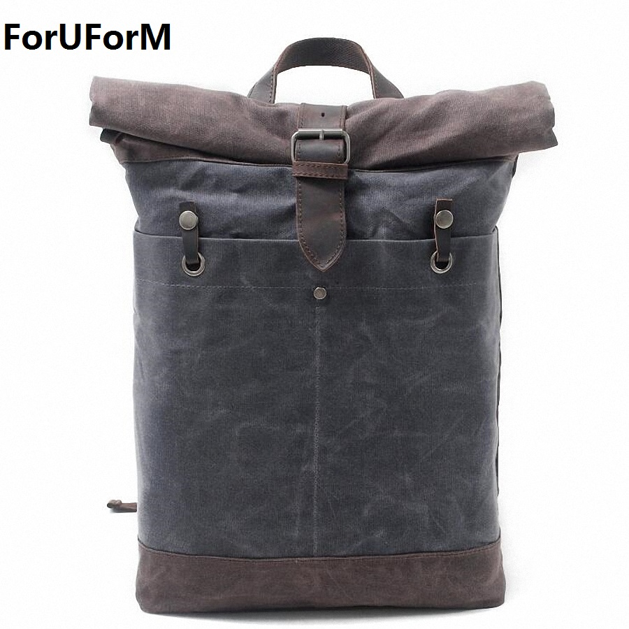 2017 Waterproof Canvas Men's Backpack Bag 15 Inch Laptop Notebook Mochila for Men Waterproof Back Pack school backpack LI-1883 men s backpack business travel bag 15 inch laptop notebook mochila for men women waterproof back pack school backpack bag