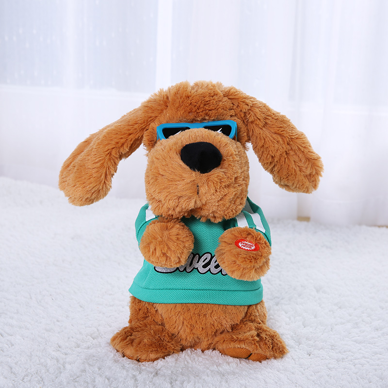 Mamadada 28 cm chanter et jouer peluche chien 6 chansons bébé peluche musicale Interactive peluche pour enfants poupées électriques jouets