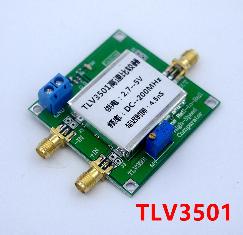 TLV3501 High Speed Comparator, Frequency Meter, Front-end Shaping Module, 4.5ns Ultra High-speed Comparator k654 420 frequency conversion speed control module