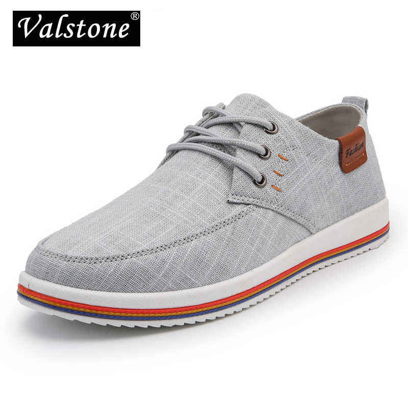 Valstone Men s Linen casual shoes Fashion sneakers male vulcanized flats  lace-ups Rubber bottom homme eeca24c29b4a