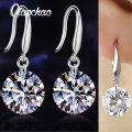 Chic Women Silver Plated Ear Hook Chandelier Crystal Dangle Earring Gift Free Shipping EAR E244