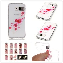 For Samsung Galaxy S6 G9200 Case Shatter-resistant Gas cushion shining Case Luxury Diamond Jewelry transparent TPU case