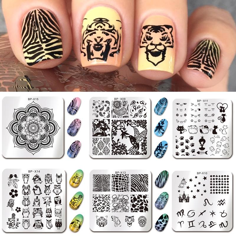 Aliexpress Buy Born Pretty Nail Art Stamp Plates Cut Animal