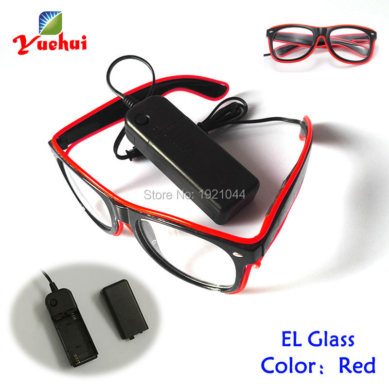 Hot Sales Glow Party Supplies Red EL Wire Glasses+DC-3V Steady on Drive Glowing Product LED neon light Neon light Party Props