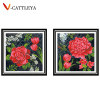 DIY Diamond Embroidery Flowers 5D Diamond Painting Special Shaped 3D Cross Stitch Decoration Landscape Christmas Gifts