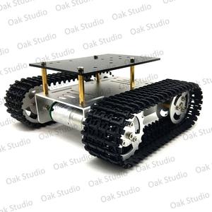Image 4 - מיני T10 חכם טנק רכב שלדת במעקב קטרפילר Crawler רובוט פלטפורמת לdiy Arduino
