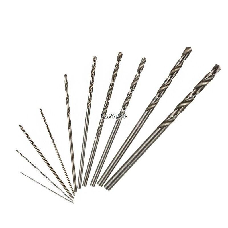 Hand & Power Tool Accessories Drill Bits 10pcs Mini Drill Hss Bit Set For Dremel Rotary Tool Electric Tools High Speed White Twist New Drop Ship Dls Homeful