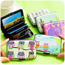 Cartoon owl card & ID holder 7 slot storage cards case Creative zakka Stationery Office material school supplies 6337(China)