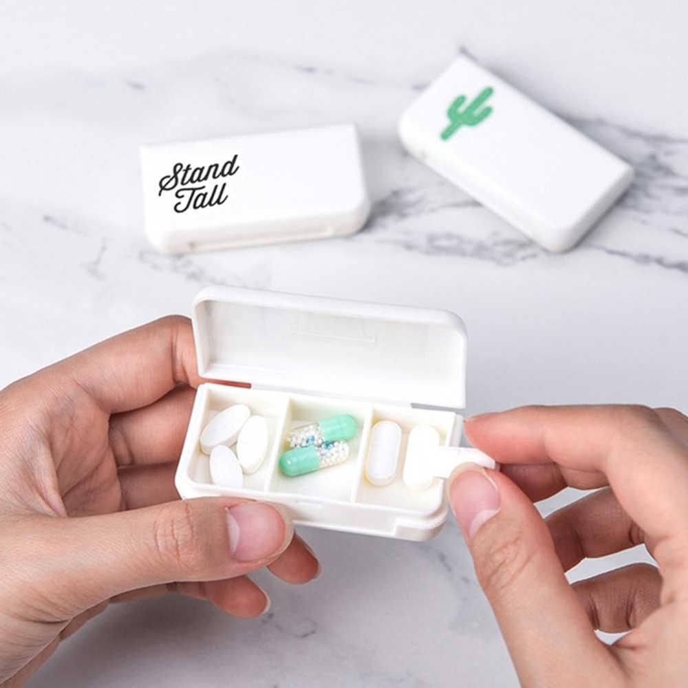 3 グリッドポータブルピルカッタースプリッタ創造折りたたみピルケース薬ピルケース s メイクツールアクセサリーのための