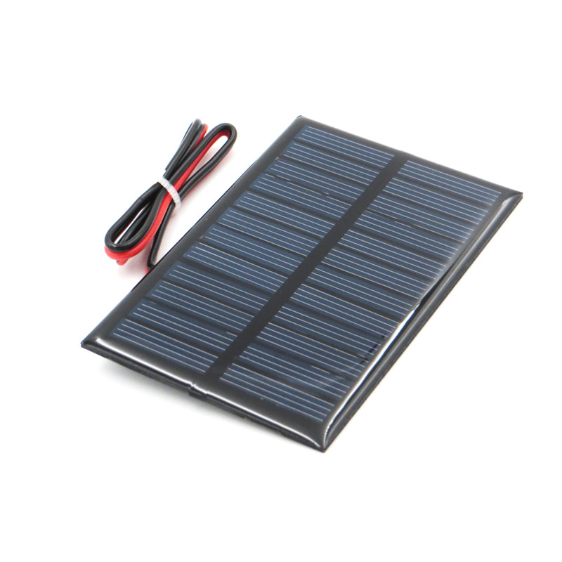 Fansaco 6V 0.6W Portable Solar Panel Polycrystalline Silicon DIY Battery Sunpower Panel Power System Mini Solar Cell With Cable