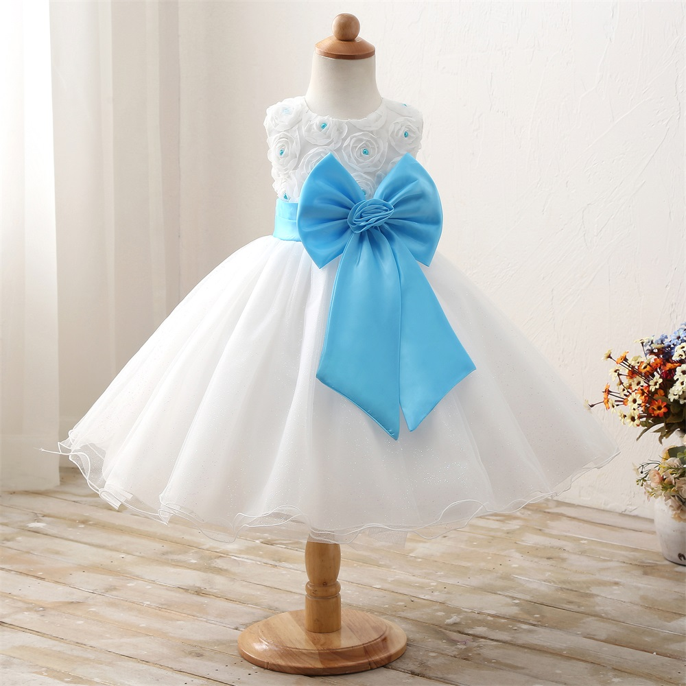 2018 New Designs White Wedding Girl Dress Children Clothing Girl ...