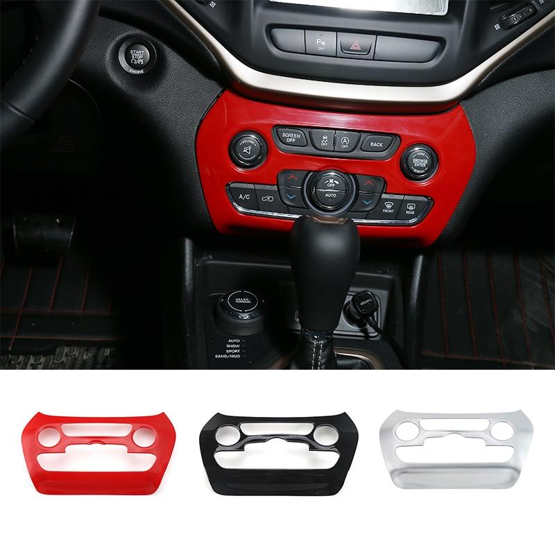 SHINEKA Car Styling Air Conditioning Switch Decoraiton