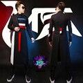 Vestidos de preto longo masculino jaqueta tribunal Europeu costume stage show retro cantor dancer desempenho estrela festa blazer jaqueta