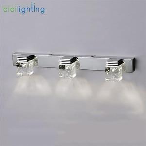 Image 5 - Светодиодный настенный светильник с кристаллами, зеркальный передний светильник, настенный светильник для ванной, современный настенный светильник для спальни, гостиной, Настенный бра, светильник