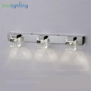 Image 5 - LED Wall Lamp Crystal Mirror Front Light Bathroom makeup Wall Lights Modern bedroom living room wall sconces lighting fixture