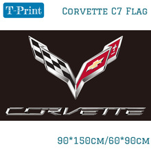Корвет C7 флаг автомобиль гоночный флаг 90x150 см 60x90 см из полиэстера