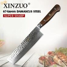 XINZUO 7 zoll fleischmesser damaststahl küchenmesser stainlesss stahl gemüse messer Pro chef messer palisander griff