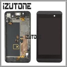 Хорошее 100% гарантия ЖК-дисплей Дисплей с Сенсорный экран планшета + рамка Ассамблеи для BlackBerry Z10 4 г версии, бесплатная доставка