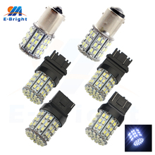 1156 1206 64 SMD LED Pure White Car Auto Light Source Brake Turning Parking Reverse Lamp Bulb DC 12V 8000K Free Shipping free shipping 100pcs smd bi directional trigger db3 lldb3 ll34 1206
