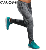 CALOFE Summer Fitness Sport Pants Men Elastic Breathable Sweat Pants Grey Running Training Pants Basketball Jogging