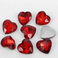 Siam Heart Shape Crystal Fancy Stone Point Back Glass Stone For DIY Jewelry Accessory.8mm 10mm12mm 14mm 16mm 18mm 23mm