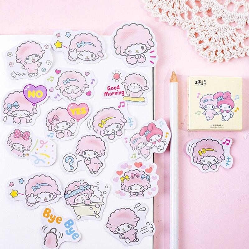 45 Pcs/box kawaii small lamb paper stickers DIY diary decoration album scrapbooking sticker
